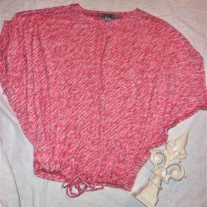 woman ruff Hewn Grey small  tee shirt  chic boho